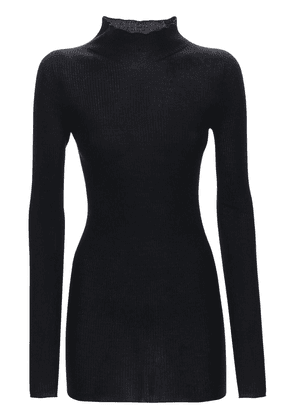 Wool Rib Knit Sweater