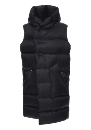 Sleeveless Nylon Puff Down Coat
