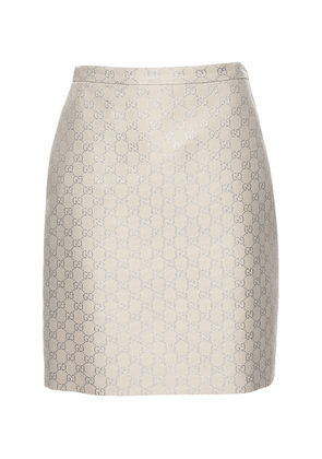 Gg Light Lamé Wool Blend Mini Skirt