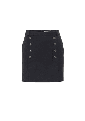 High-rise virgin wool miniskirt