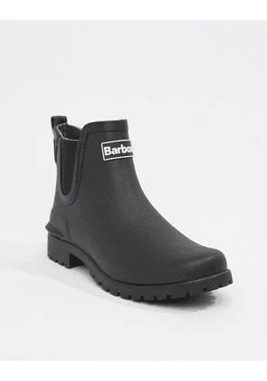 Barbour Chelsea welly boot with logo detail-Black