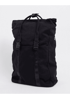 ASOS DESIGN canvas backpack with laptop compartment in black
