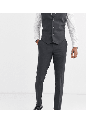 ASOS DESIGN Tall skinny suit trousers in charcoal-Grey