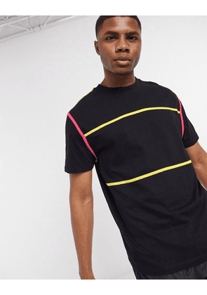 ASOS DESIGN relaxed t-shirt and contrast binding in black