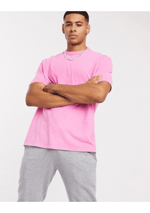ASOS DESIGN relaxed t-shirt in purple acid wash