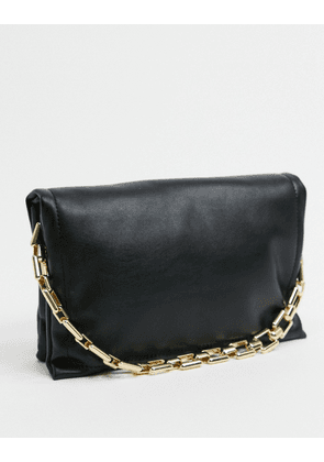 Topshop padded clutch in black