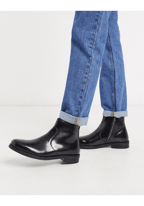 ASOS DESIGN chelsea boots in black leather