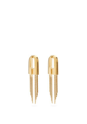 Givenchy - Graphic Chain-tassel Earrings - Womens - Gold