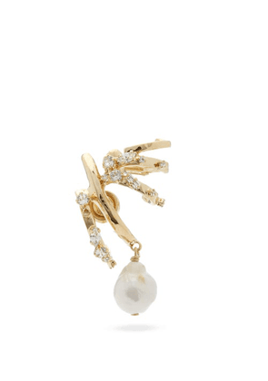 Givenchy - Baroque-pearl Drop Single Earring - Womens - Gold