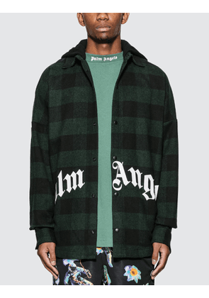 Palm Angels Hooded Logo Overshirt