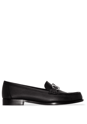Salvatore Ferragamo Polo leather loafers - Black