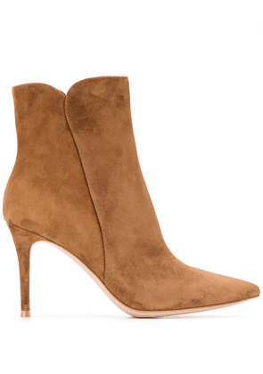 Gianvito Rossi Levy 85mm ankle boots - Brown