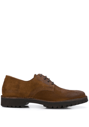 Eleventy lace-up suede shoes - Brown