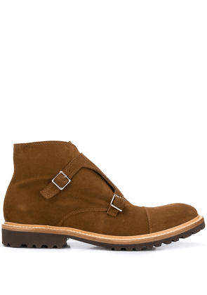 Eleventy monk-strap ankle boots - Brown