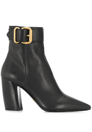 Prada buckle detail ankle boots - Black