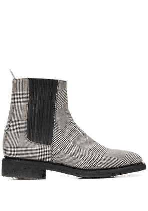 Thom Browne houndstooth check Chelsea boots - Black