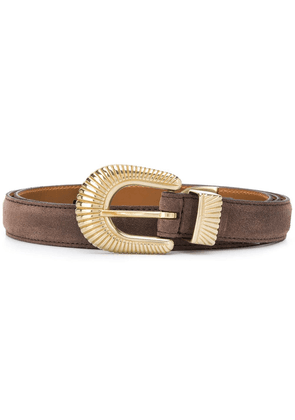 Eleventy ridged buckle belt - Brown