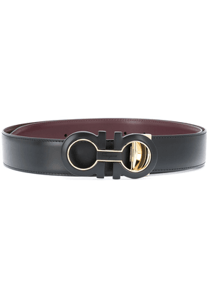 Salvatore Ferragamo Gancini reversible belt - Black