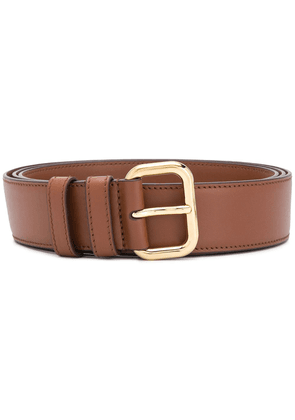 Miu Miu buckle-fastened leather belt - Brown