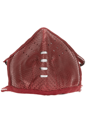 Isaac Sellam Experience snakeskin-effect face mask - Red