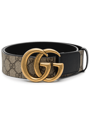 Gucci GG Supreme Marmont leather belt - Brown