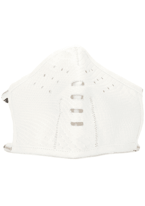 Isaac Sellam Experience perforated face mask - White