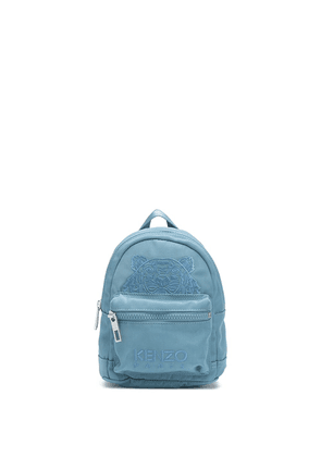 Kenzo Tiger-embroidered backpack - Blue