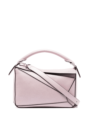 Loewe pink Puzzle small leather shoulder bag