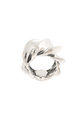Natural Instinct oversized textured ring - SILVER
