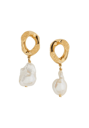 Burberry chain-link Earrings - GOLD