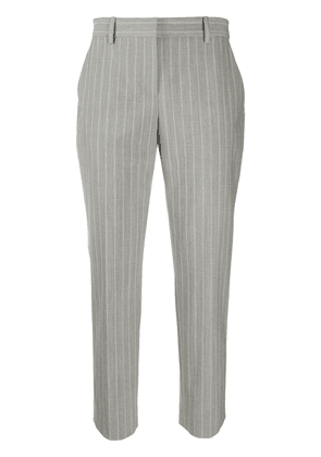 Theory tailored cropped pinstripe trousers - Grey