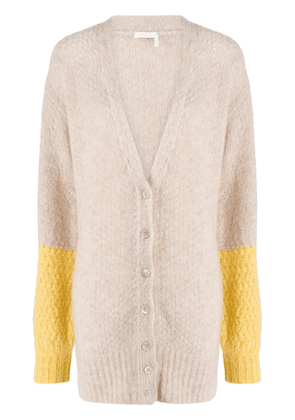 See by Chloé colour-block button cardigan - NEUTRALS