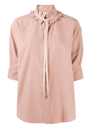 See by Chloé pleated collar shirt - Brown