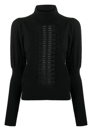 See by Chloé fitted-cuff sleeves jumper - Black