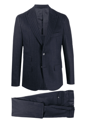 Eleventy striped-print two-piece suit - Blue