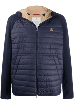 Brunello Cucinelli quilted panel jacket - Blue
