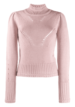 Dondup roll neck cut-out detail jumper - PINK