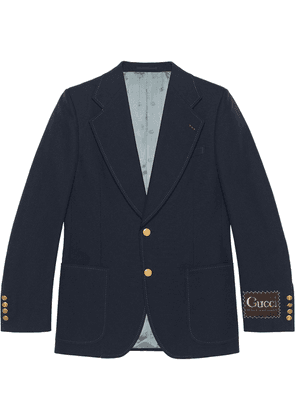 Gucci single-breasted blazer - Blue