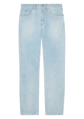 Gucci regular fit stone-bleached jeans - Blue