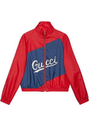 Gucci Gucci script nylon jacket - Red