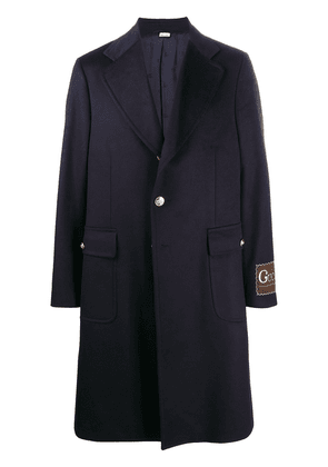 Gucci Double G button single-breasted coat - Blue