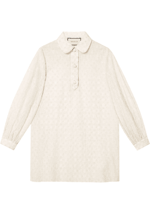 Gucci GG embroidered cotton shirt - White