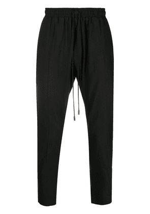 Alchemy high-waisted tapered trousers - Black