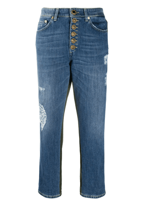 Dondup cropped patchwork jeans - Blue