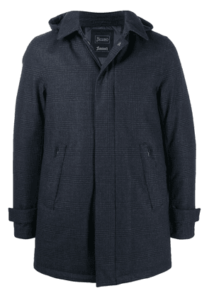 Herno Prince of Wales check padded coat - Blue