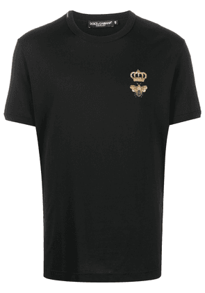 Dolce & Gabbana crown embroidered T-shirt - Black