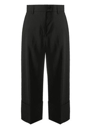 MSGM cropped wool trousers - Black