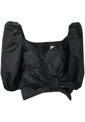 RedValentino pussy-bow cropped blouse - Black