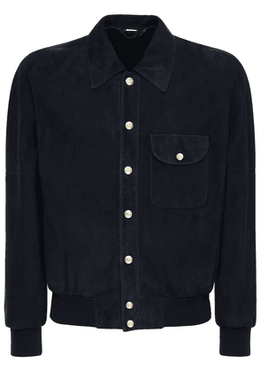 Gg Buttons Suede Jacket