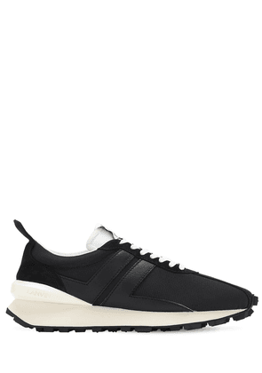 Mesh & Leather Running Sneakers